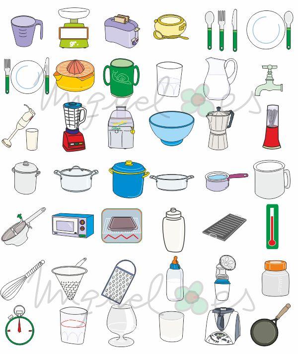 Dibujos de utensilios de cocina imagui for Dibujos de cocina