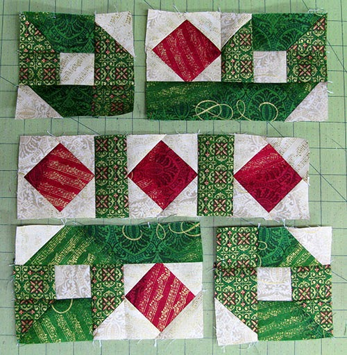 piecing block together