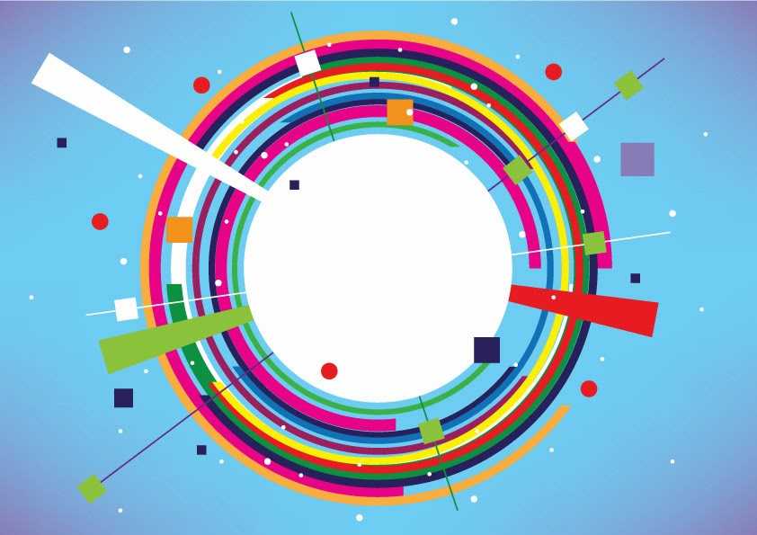 Abstract colorful circle banner