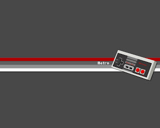 Old school Retro style console controller desktop wallpaper