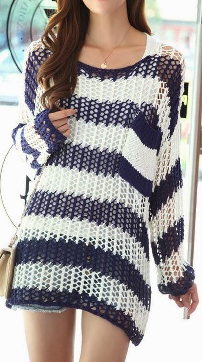 Wild Fashion Crochet Sweater