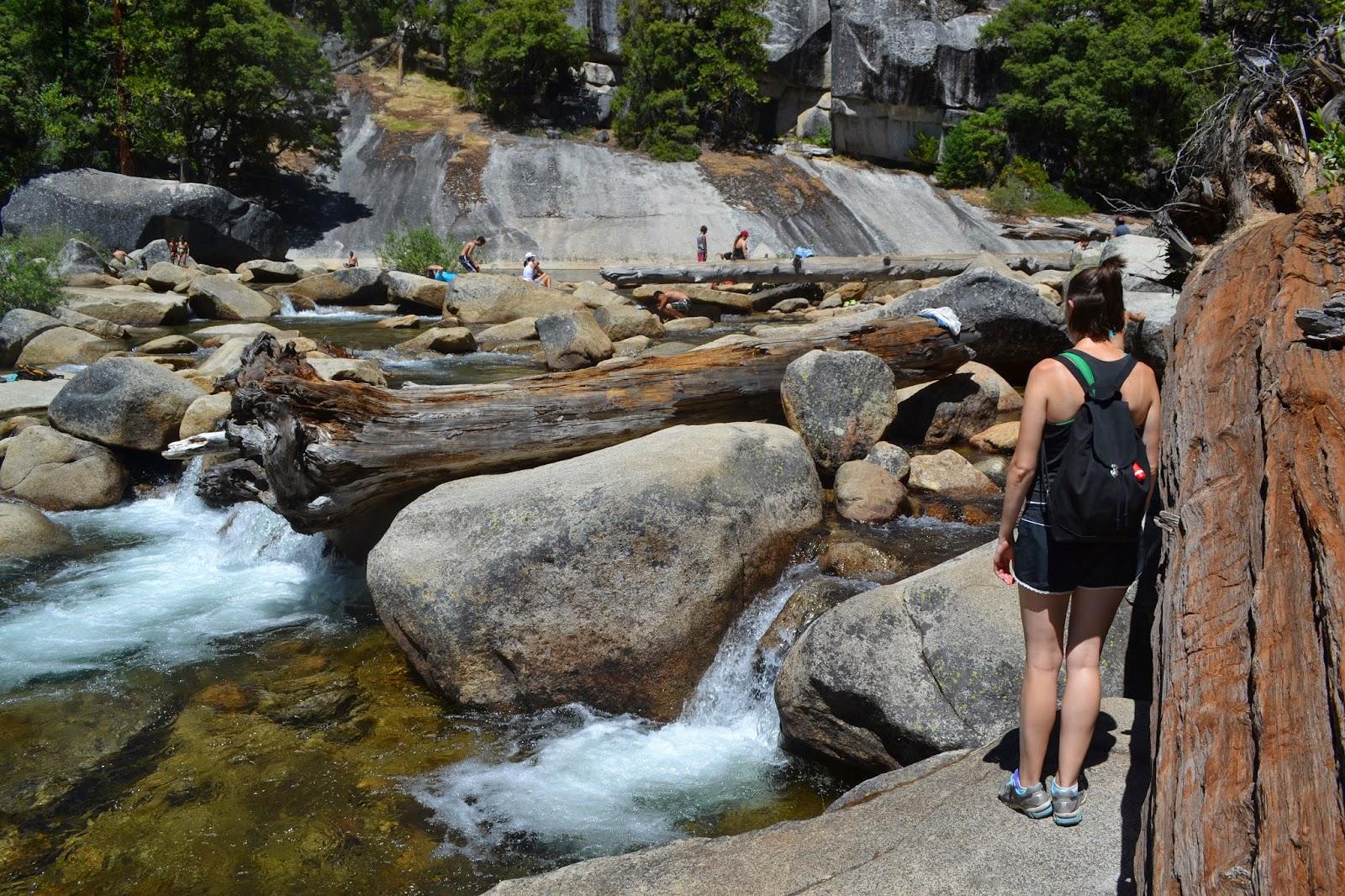 Top of waterfall hike in Yosemite