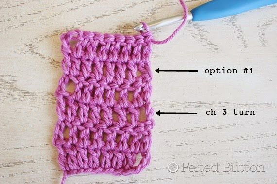 Felted Button Colorful Crochet Patterns: Mind the Gap--Avoiding the Turning Chain Hole