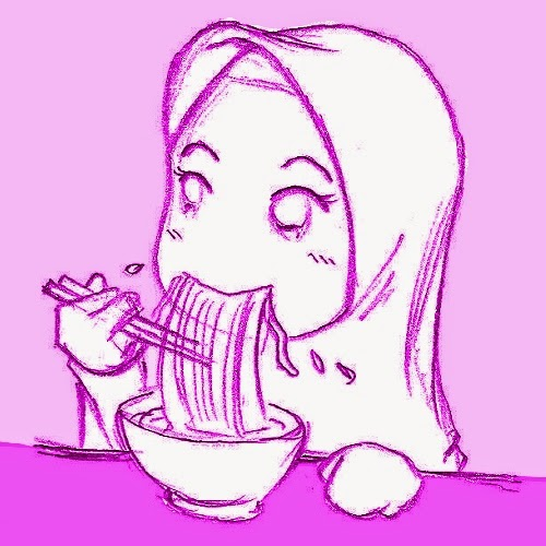 doa sebelum makan dan sesudah makan, gadis muslim makan