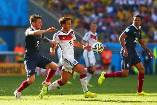 Piala Dunia 2014: Jerman Ke Separuh Akhir Singkir Perancis 1-0
