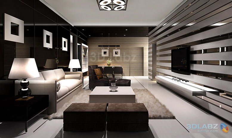 Amazing 3D Interior Architecture Of Living Room Part 25