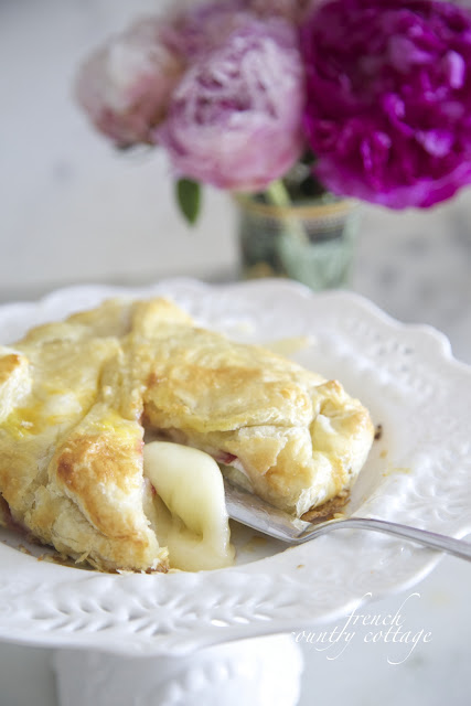 pastry wrapped baked brie