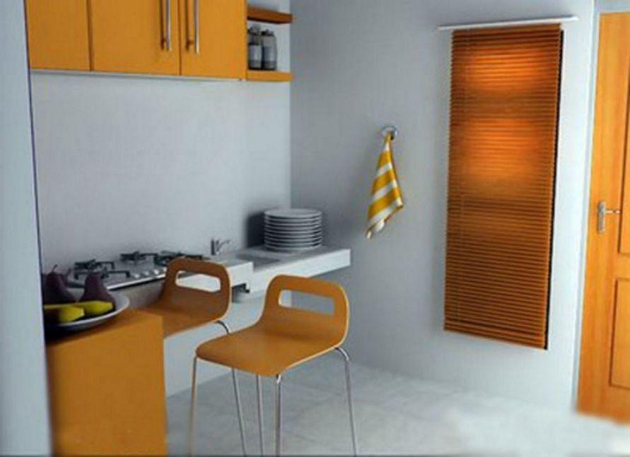 contoh interior untuk dapur type 21 sederhana terlihat indah