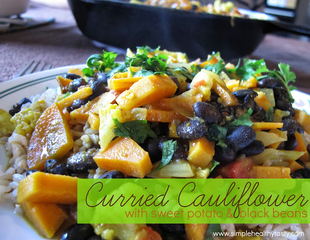 Curry with Cauliflower, Sweet Potato and Black Beans