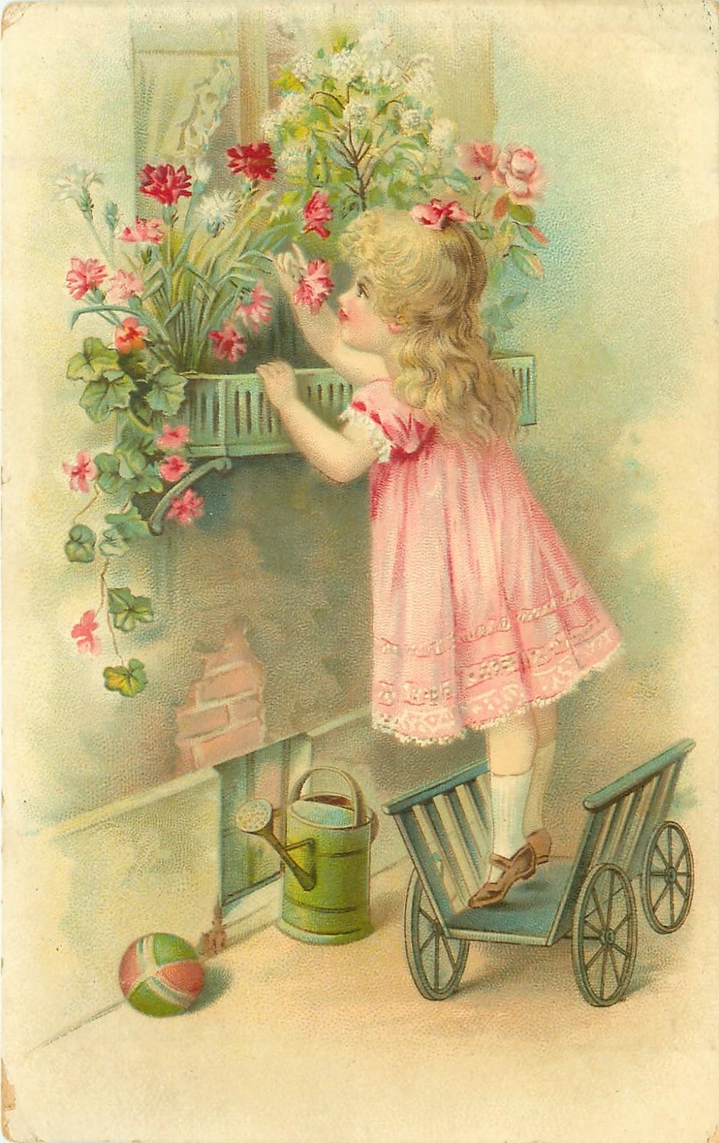 Старинные открытки с детками 14