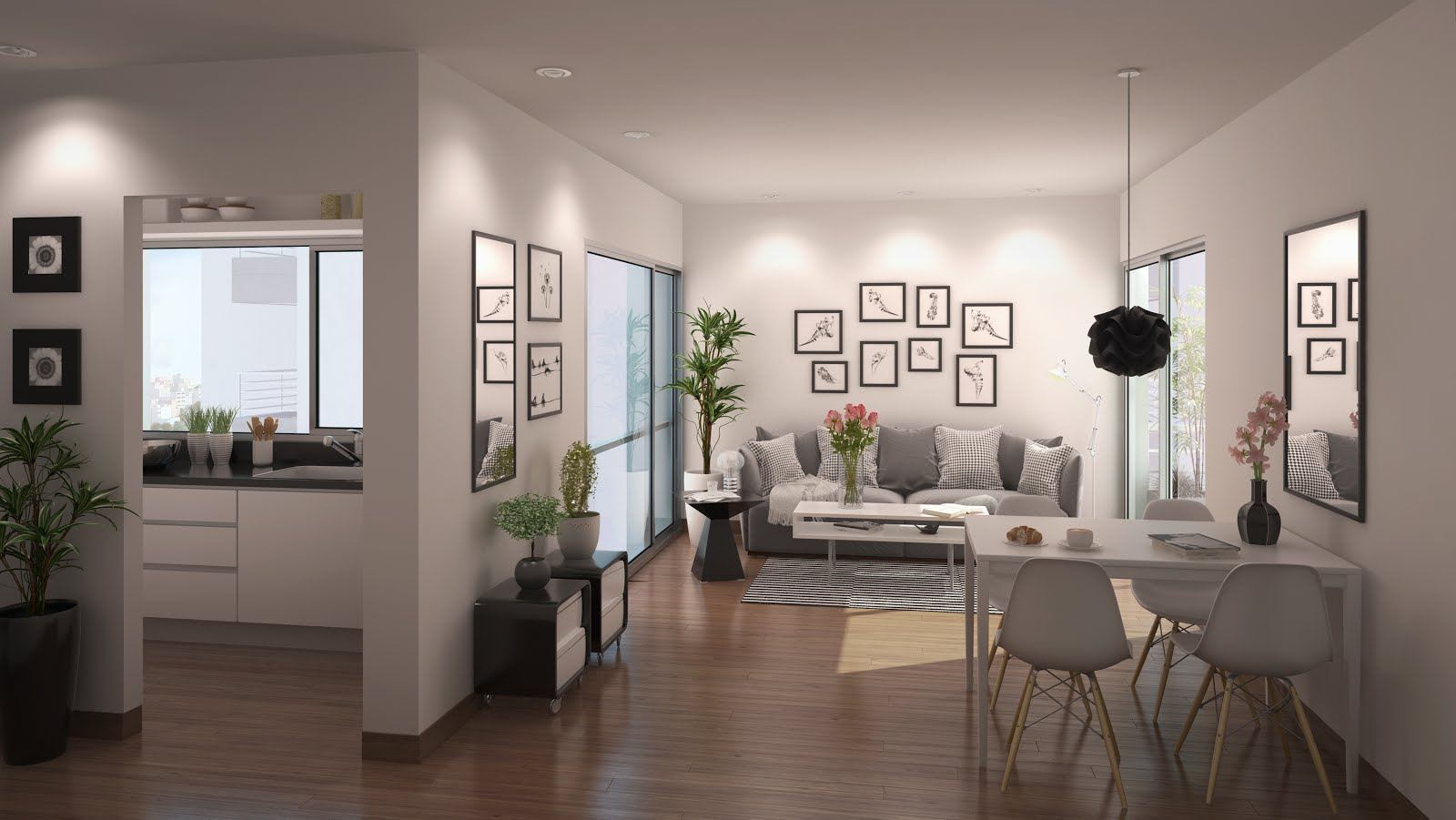 Renders arquitectura renders interiores for Interior departamento