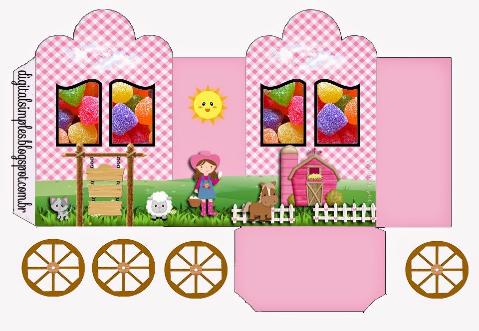 The Farm for Girls: Princess Carriage Shaped Free Printable Boxes.