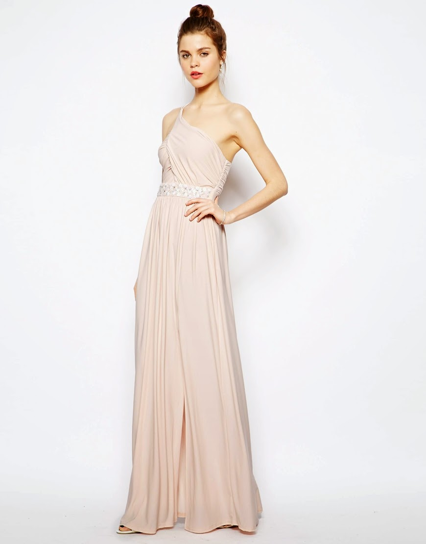 one shoulder grecian dress