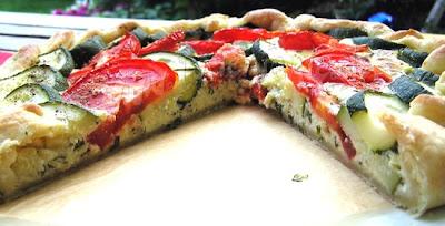 Zucchini Tomaten Galette vegetarisch Tarte Gemüsekuchen