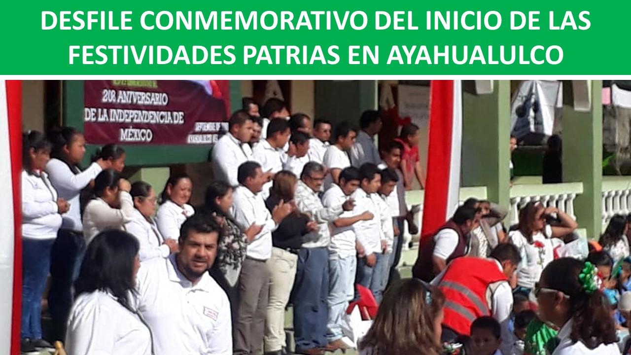 FESTIVIDADES PATRIAS EN AYAHUALULCO