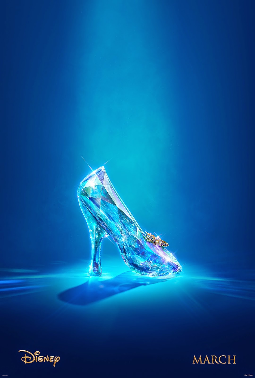 Teser poster for Cinderella:  just a simple image of the legendary glass slipper.