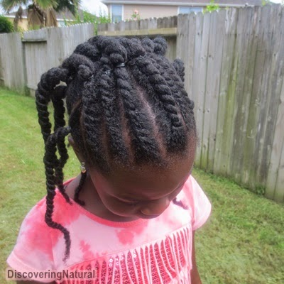 Triangle Flat Twists on Natural Hair