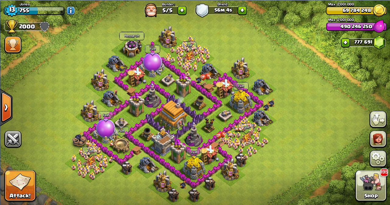 Base farming layout th6 by spikerush base farming layout th6 by - Design Thropy Base Clash Of Clans Th 6 Design Base Clash Of Clans