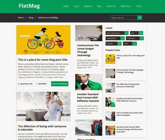 Flat Mag Blogger Template