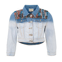 mint green westa denim jacket