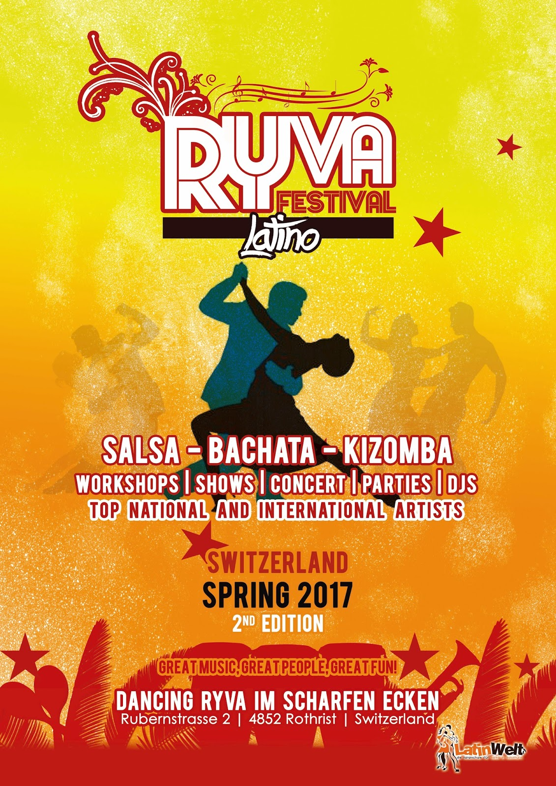 RYVA FESTIVAL LATINO SWITZERLAND 12. - 14. Mai 2017
