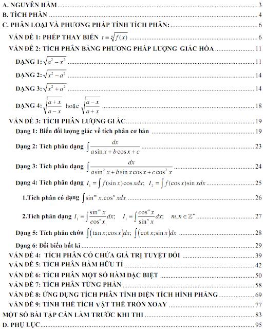 tích phân trong đề thi đại học, đề thi đại học môn toán khối A,