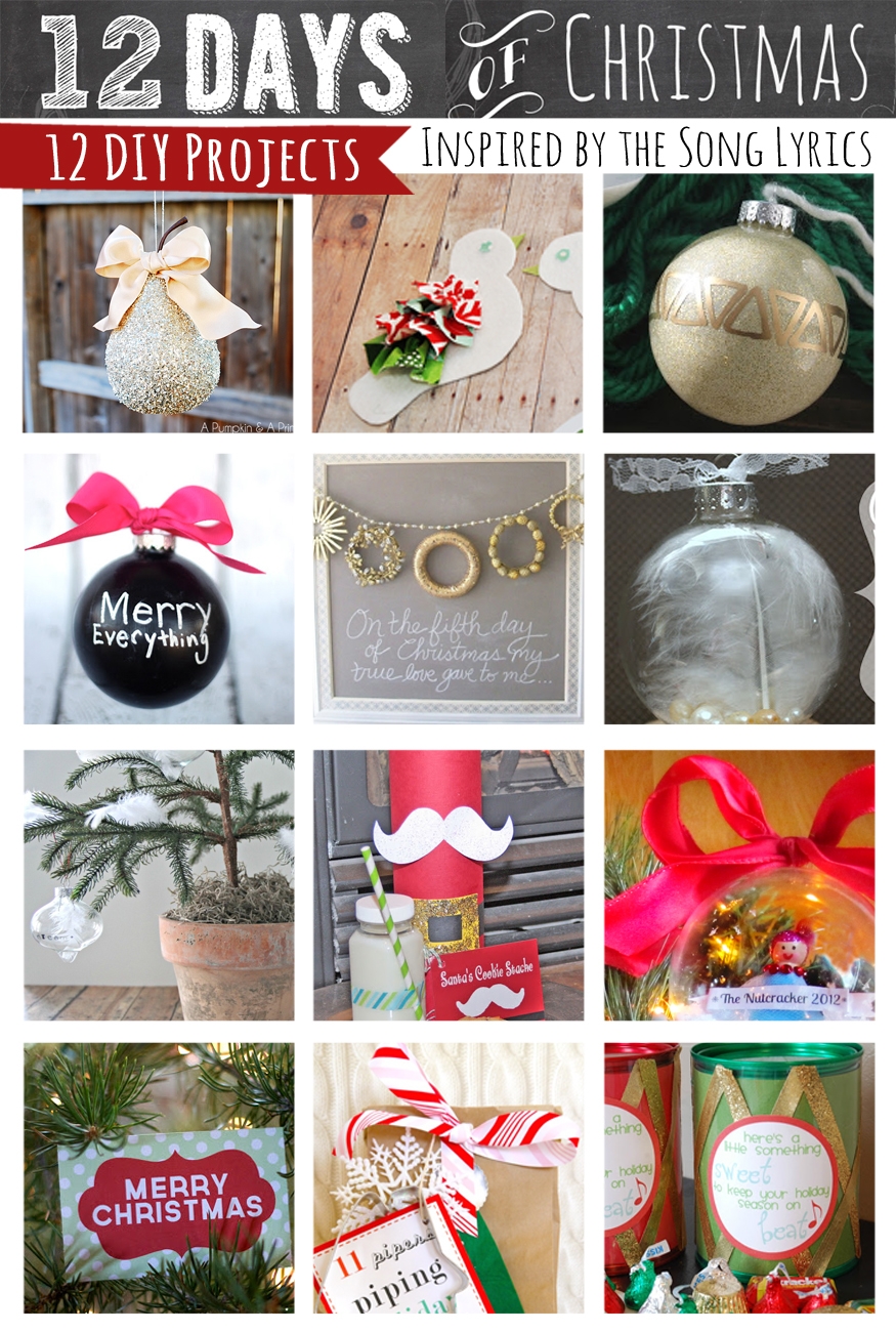 I thought it would be fun to share all 12 projects in one spot. So, here  you are 12 crafty projects inspired but the 12 Days of Christmas