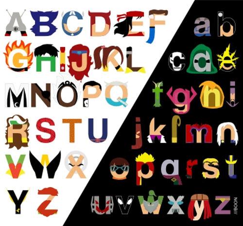 El alfabeto de Marvel Comics