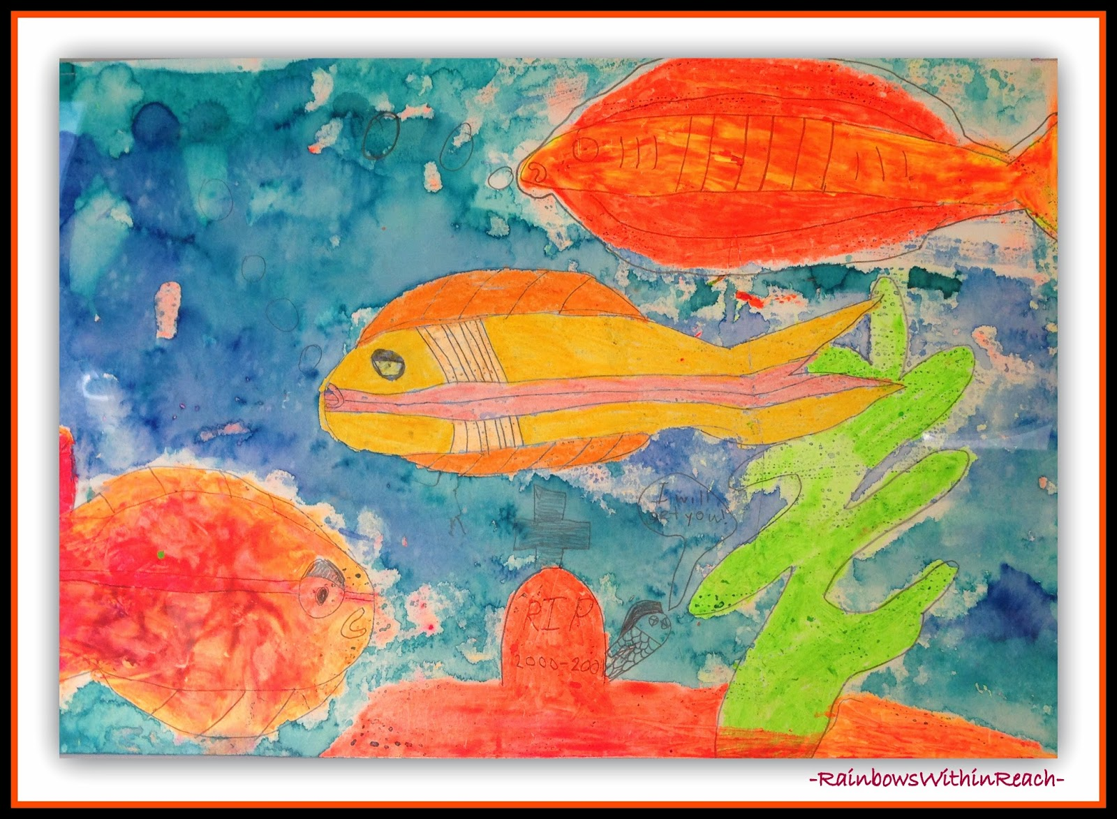 Ocean Artwork Painting {Ocean RoundUP of Inspiration at RainbowsWithinReach}