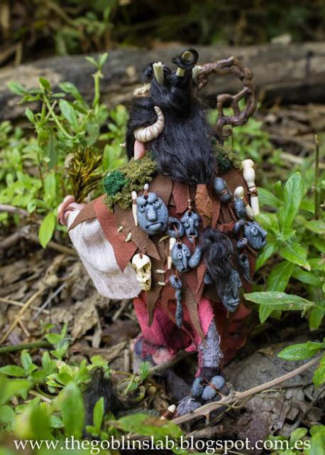 Goblin adopción muñeca fantasía ooak Meg la curandera