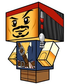 Jack Sparrow Papercraft Model Free