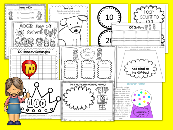 math worksheet : first grade gallery lessons for little learners 100th day  : 100th Day Math Worksheets