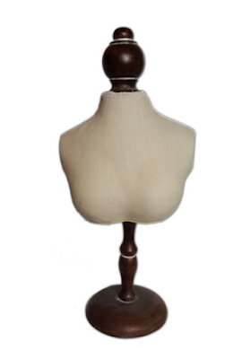 "Fabric Covered Mini Bust Display 6 1/4""W x 13 3/4""H"