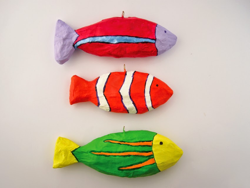 Fishes make wishes paper mache fish for How to make fish