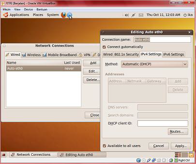 Cara Mengkoneksikan OS Ubuntu 9.0 Virtual ke Internet
