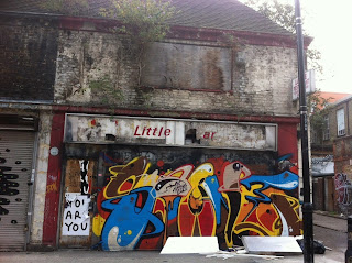Abandoned shop in Toynbee Street, London E1