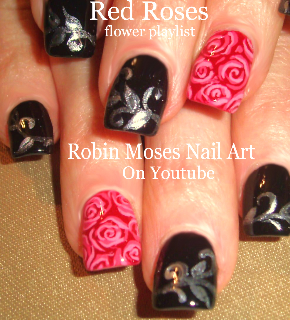 Red roses on black tips roses do it yourself how to paint roses do it yourself how to paint roses red rose ideas red roses clip art red roses nail art red rose nails rose nails red rose design solutioingenieria Choice Image