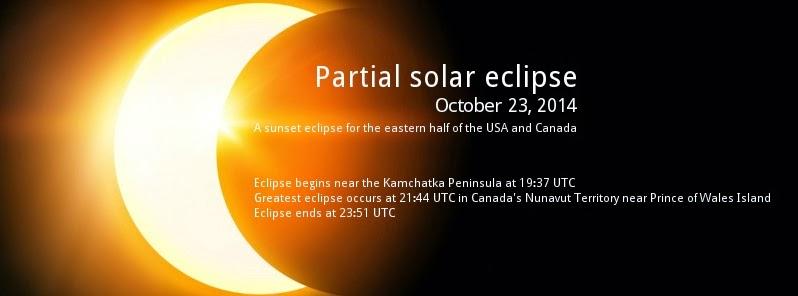 ECLIPSE PARCIAL DE SOL 23 DE OCTUBRE 2014
