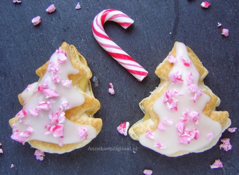 kerst tompouce, recept tompouce zelf maken, tompoucen voor kerst, recept met candy cane, crème patisserie