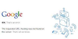 Google Webmaster Error