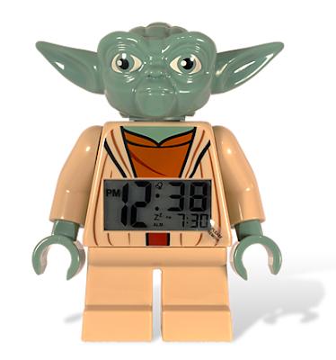 Lego Yoda alarm clock