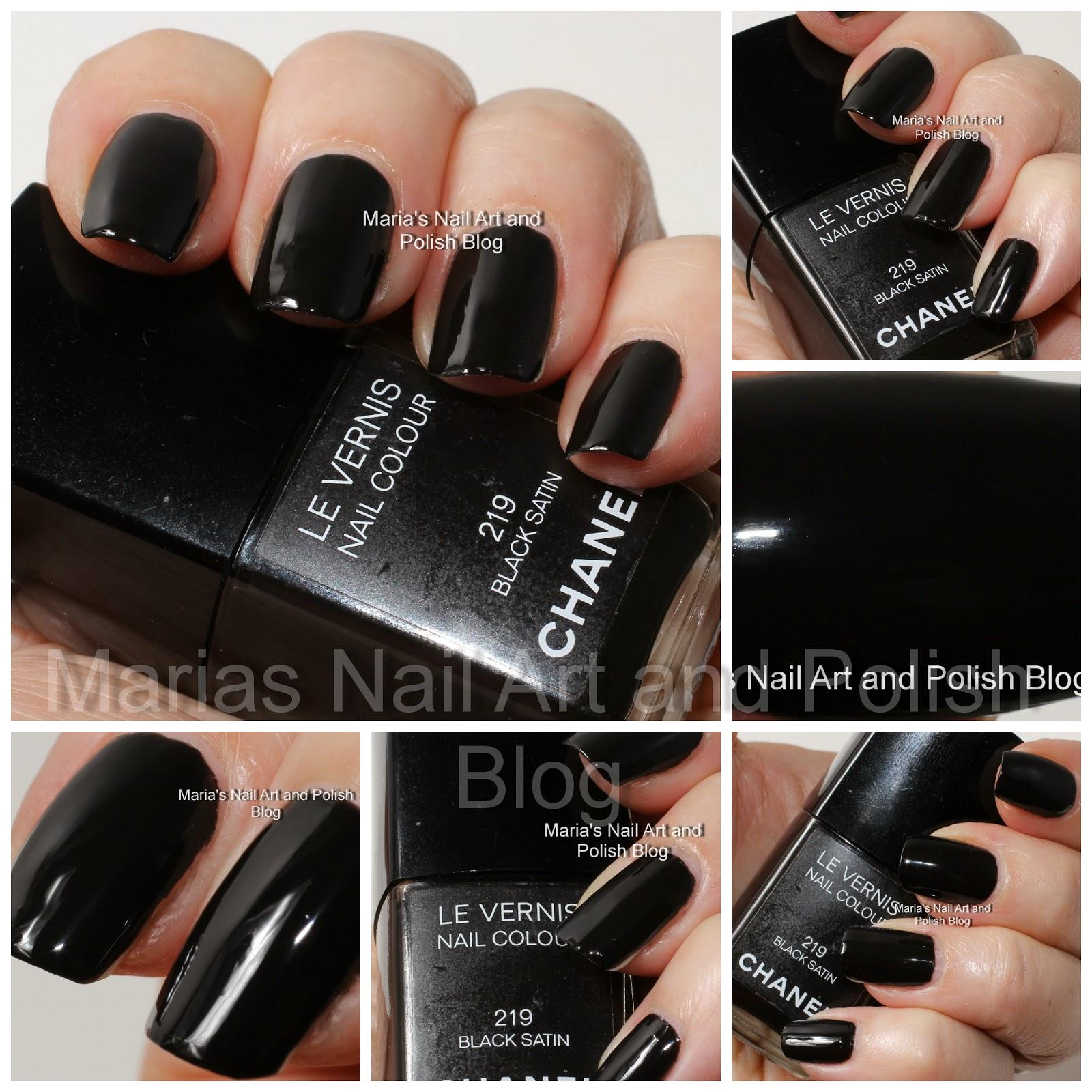 Marias Nail Art And Polish Blog: Chanel Black Satin 219