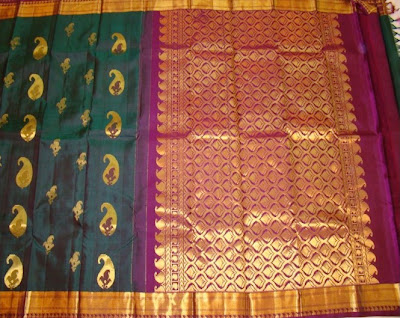 Kanchivaram saree with gold thread