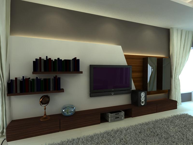 Bs design studio 3d view for interior design for 3d interior design of living room