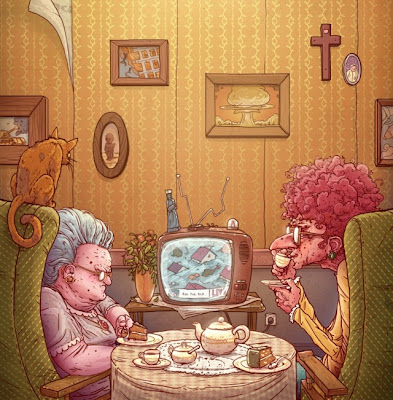 old pictures - old women cartoons - old illustrations