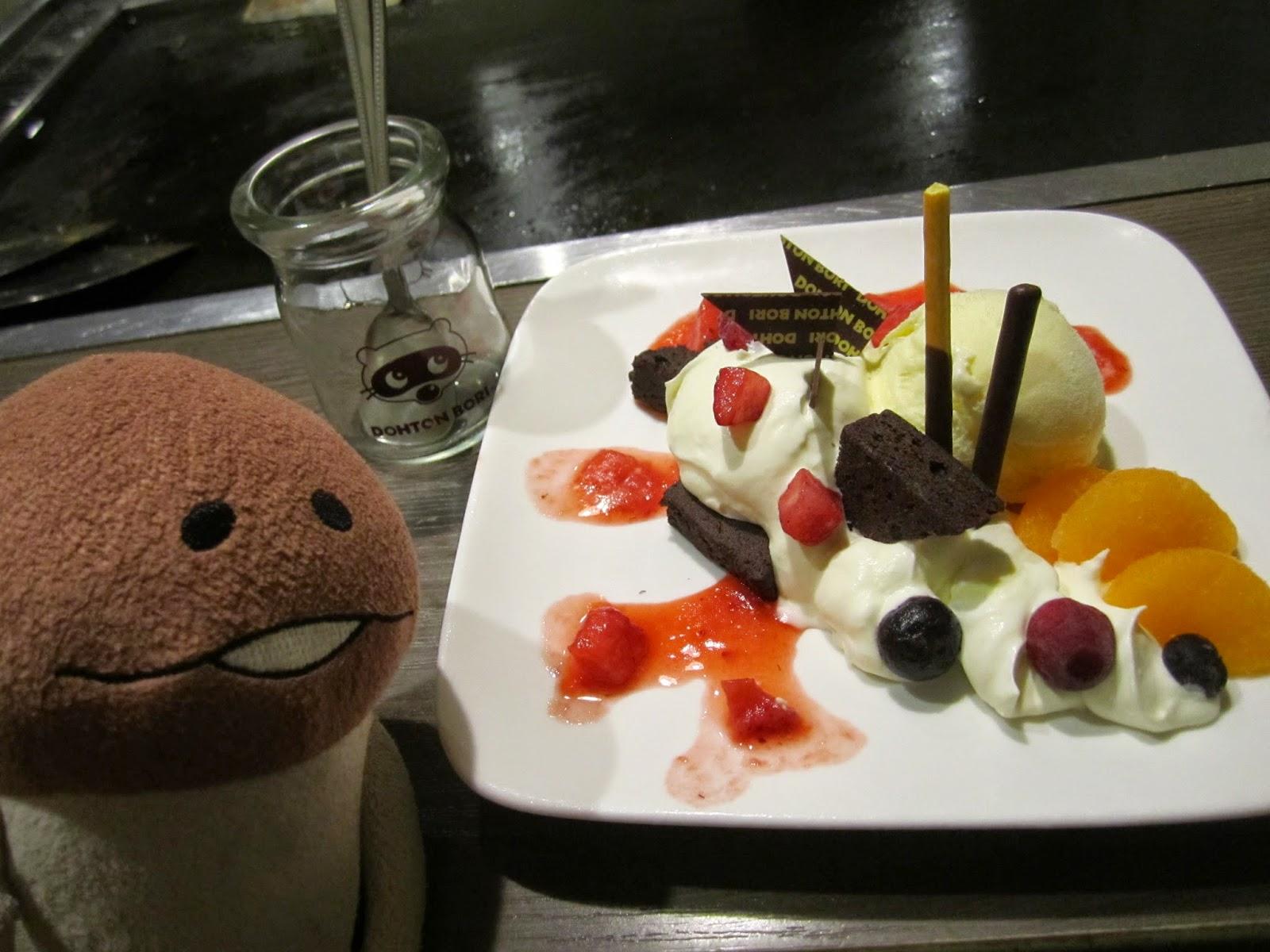 Towada Dohtonbori Birthday Dessert 道頓堀十和田店 誕生日サービスデザート