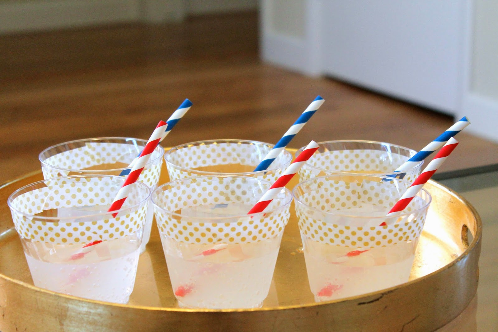 4th of July Party Tricks, hostess, diy cups, washi tape, straws