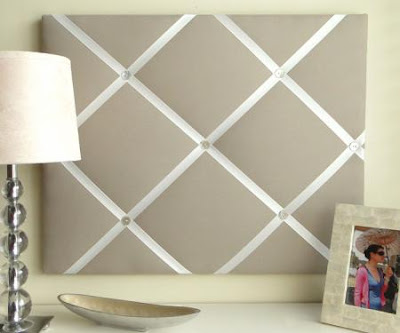 ribbon memo board, solid color, elegant