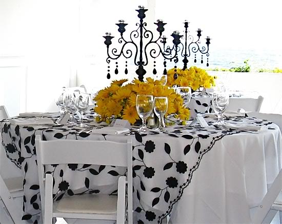 Black White Yellow Vintage with a Fresh Twist black white and yellow wedding