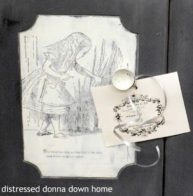 Distressed Painting, Cabinet, Alice illustrations